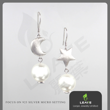 High quality Leaye shell pearl earring designs
