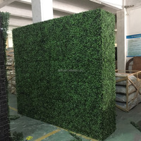 Shengjie New Design outdoor decorated grass plants wall artificial boxwood grass hedge with high quality