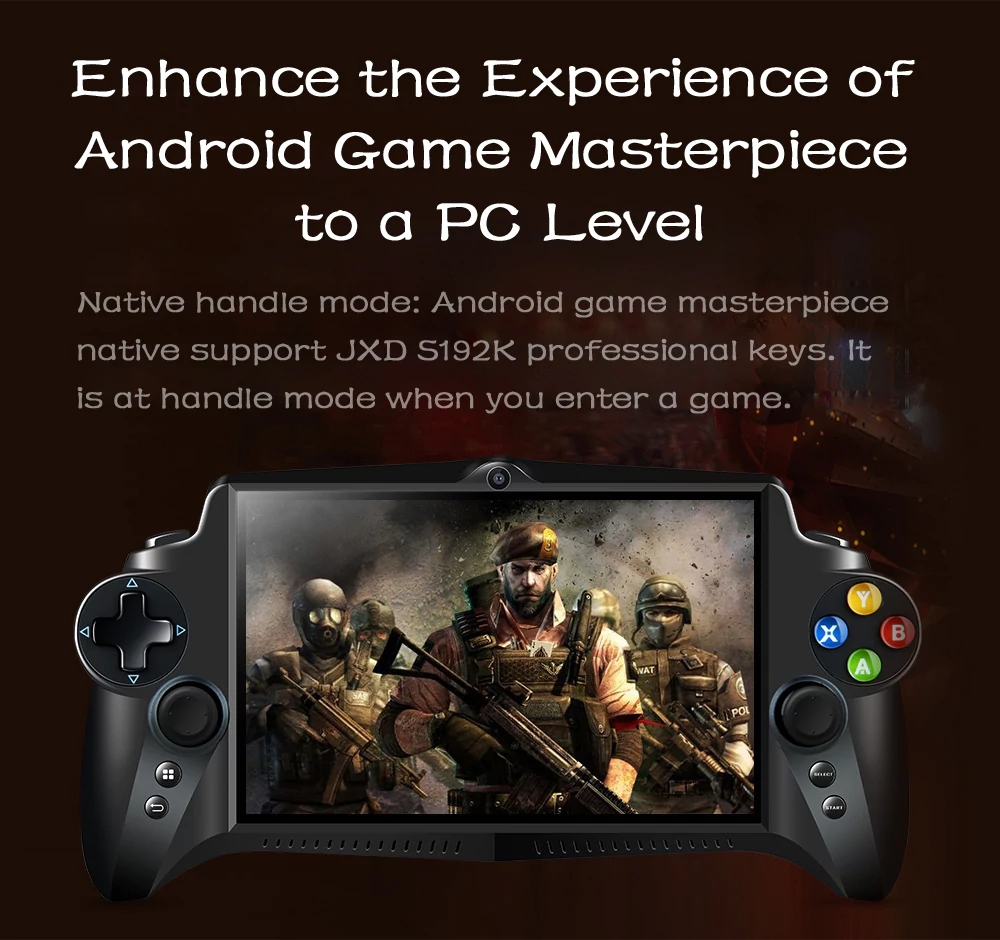 JXD S192K GamePad Game Tablet PC RK3288 7' Android 5.1 Quad Core Game Handheld Console 4GB/64GB 3D Game Player 1.8GHz EMMC PK Q9