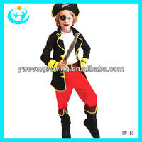 Popular pirate captain clothing suits halloween costumes for kids
