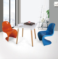 plastic dining chair/plastic S chair