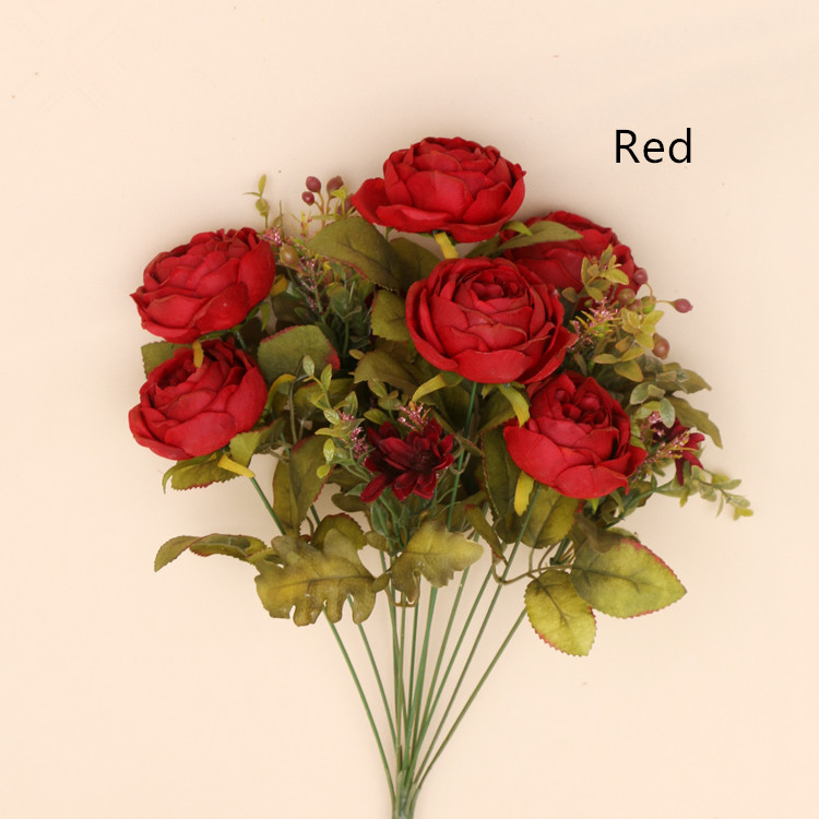Wholesale party home decorations DIY bouquet Natural Touch Colors Rose China Artificial Flowers Wedding Table Centerpieces