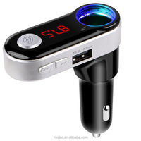 Wholesale BC09B Bluetooth handsfree car MP3 player FM Transmitter dual USB car chargers 2.1A car cigarette lighter