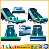Popular used inflatable water slide PVC slip n slide fiberglass water slide for sale