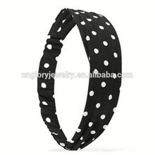 Fashion Asian japanese hair accessories polka dot Knit headband