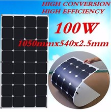 100W High Efficiency Amorphous Solar Photovoltaic Panel For Car Roof, Wing, Street Light And Home Use
