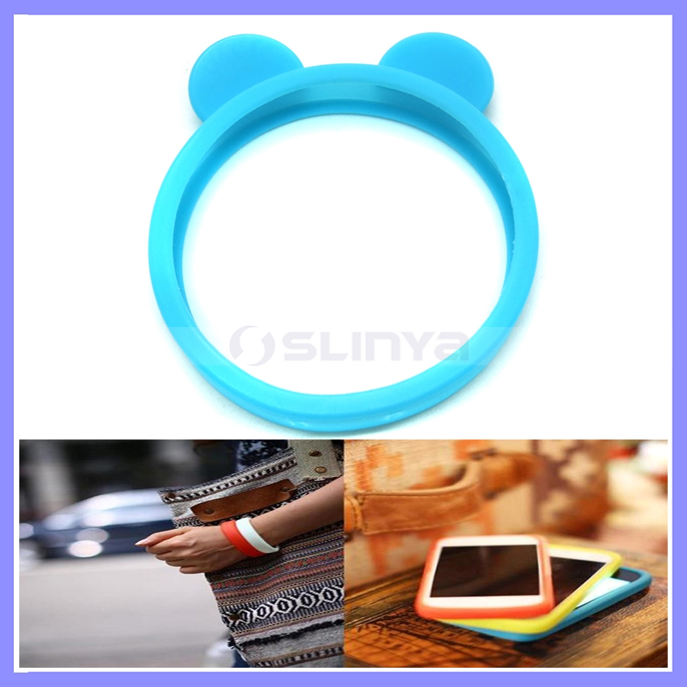 Colorful Universal Silicone Ear Style Wristband Bumper Case For Mobile Cell Phone
