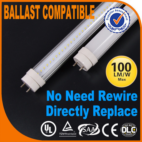 Approved India ERP T8 Tube LED Light 20w 1200mm compatible T8 Fluorescent Light