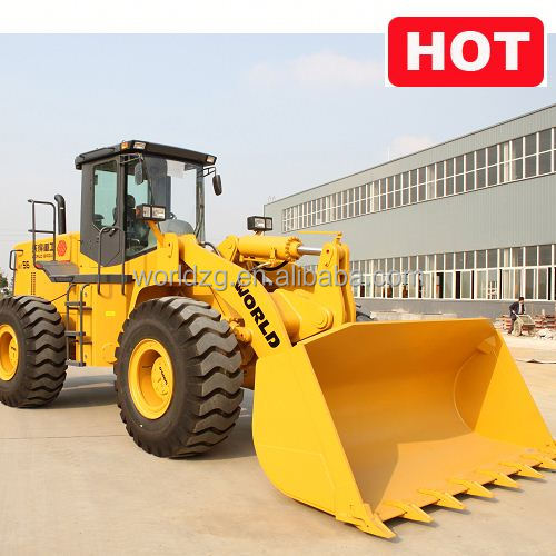 high quality Mechanical loader with fork lift (5ton with joystick air conditiaoner)