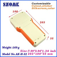 Hot selling with 3 AA battery holder handheld plastic case