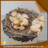 Resin baby angels in the nest art and craft souvenir items