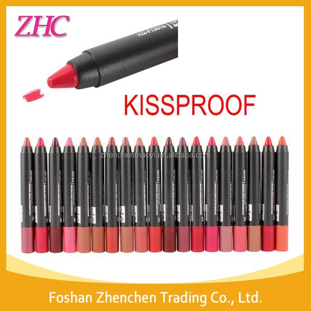 Menow 19color matte lipstick pencil cosmeticskiss proof lipstick