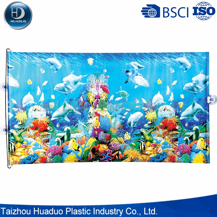 Full Color Printing Reduce Temprature Auto Sunshade Curtain