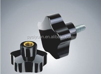 Small plastic corrugated handle/china factory custom plastic pull flexible black ABS plastic handle