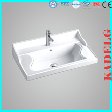 Cabinet Wash Hand Basin with Wave Design Inside for Bathroom