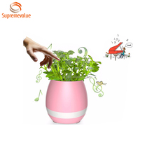 Christmas Product Mini Plastic Flower Pot Bluetooth Indoor Plant Pot