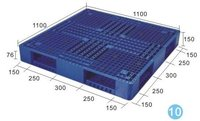 QUALIFIED plastic pallet;ZJ1111-150 double-sided mesh