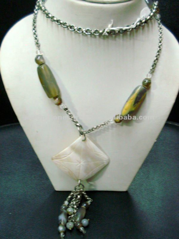Agate Chain Stone Jewelry Necklace