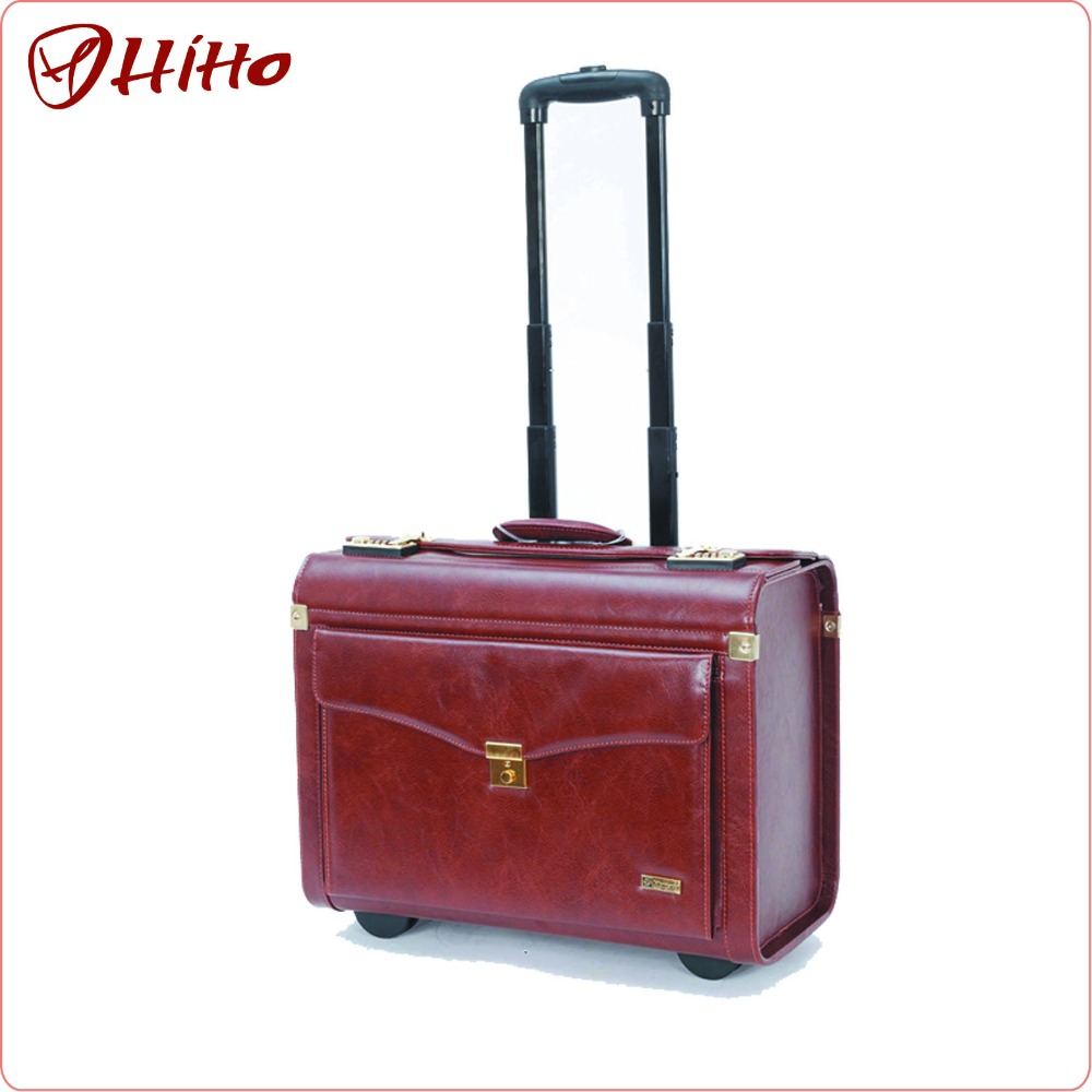 Eminent Pu Leather Pilot Trolley Case