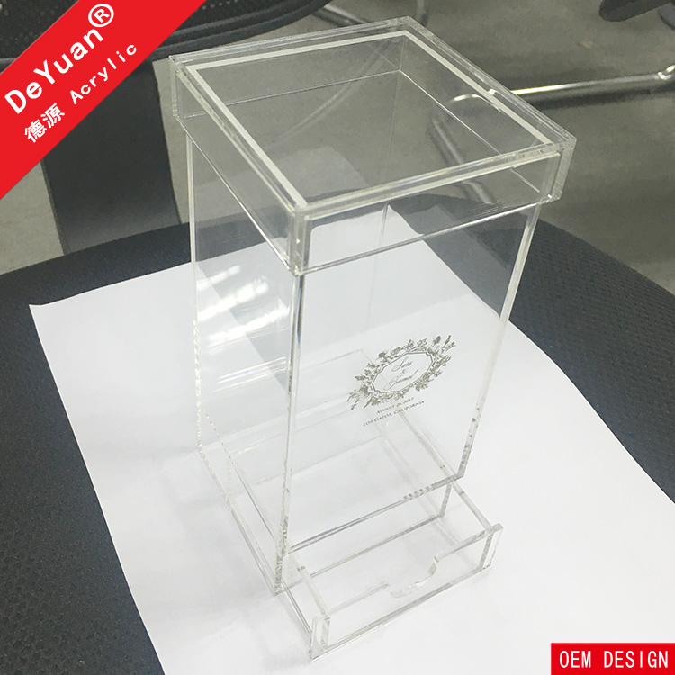 Transparent Gift Wedding Candy Box Acrylic With Drawer