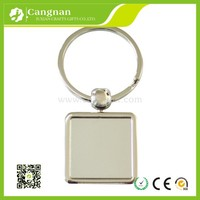 wholesale fashion blank metal keychain