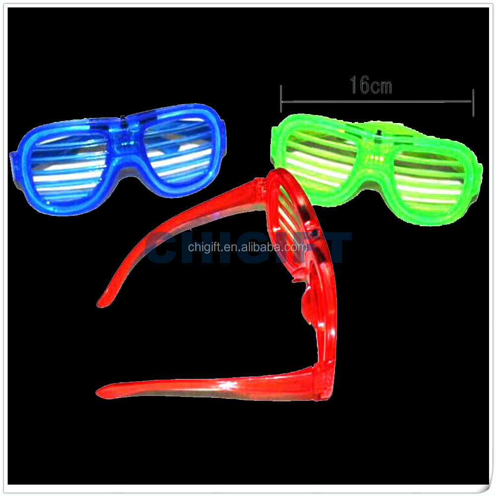 Wholesale Gift Items Custom Shaped Light Up Sunglasses