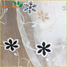 Embroidery Organza Curtain For Window Cover