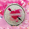 self adhesive acrylic rhinestone gem sticker for mirror