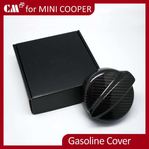 Mini Cooper R56 Real Dry Black Carbon Fiber Fuel Gasoline Cover