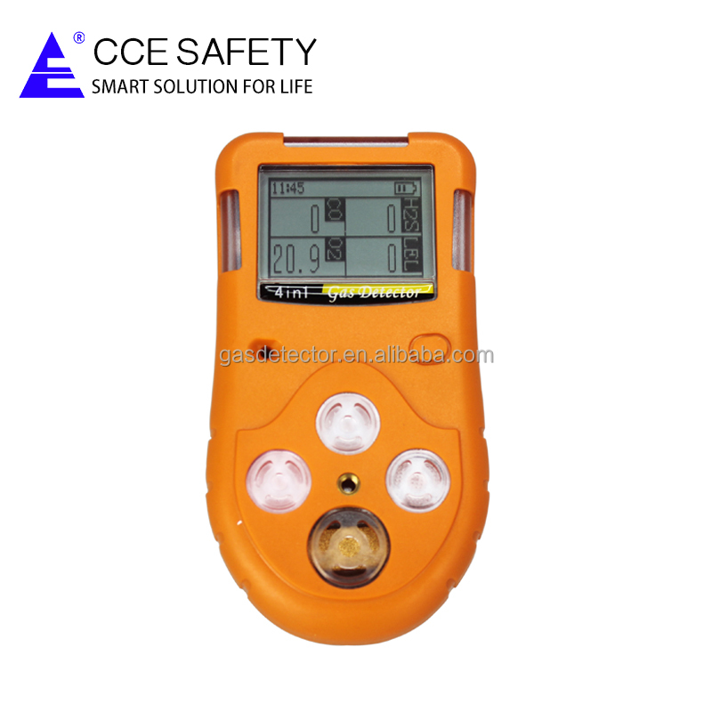 Portable CO, H2S, <strong>O2</strong>, CH4/LEL 4 in 1 Multi Gas Detector alarm GC310