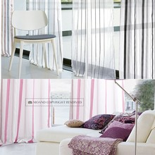 Promotional Home Textile Blackout Latest Curtain Design Stripe Sheer For Window Curtains