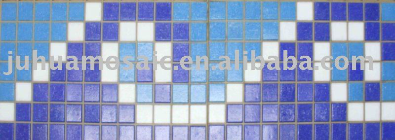 blue color swimming pool borders
