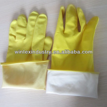 40g cotton lined latex household rubber gloves for cleaning