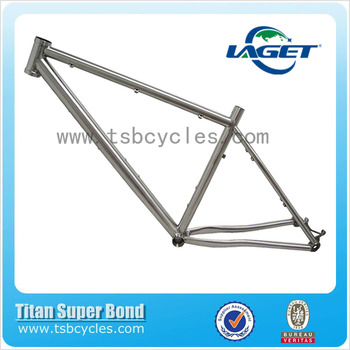 Post mount disc brake titanium mtb frame model TOM1402