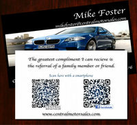 Tear Off Business Cards QR CODE