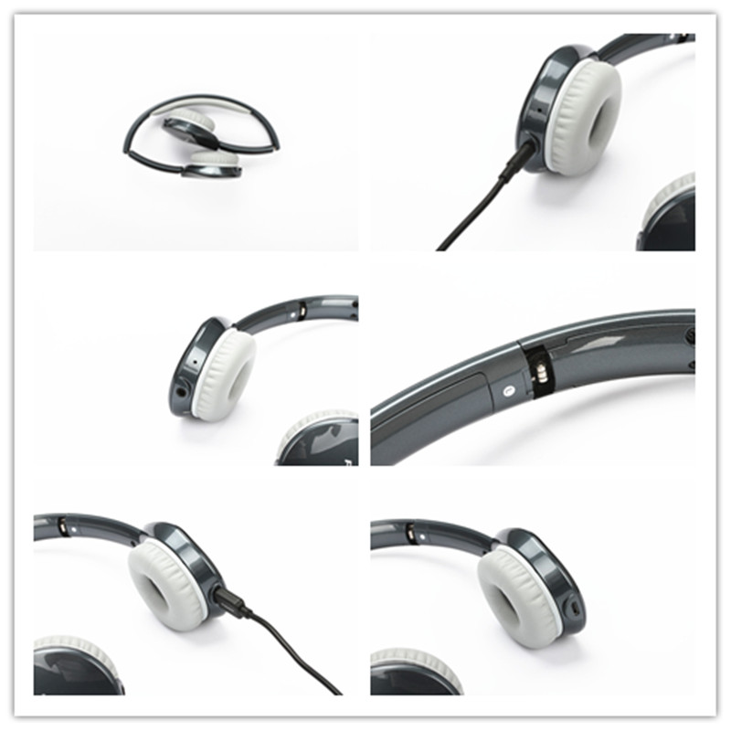 PISEN Stretchable Handfree EDR Foldable High Quality Wireless Stereo Communication Bluetooth Gaming Headset Headphone With Mic