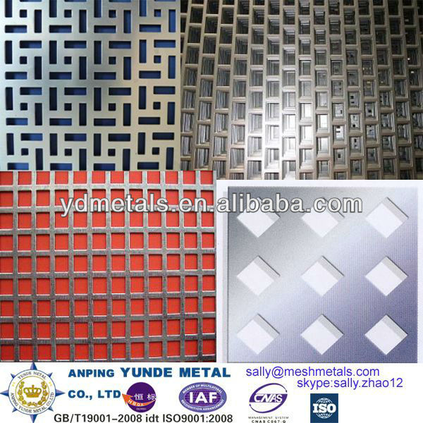 square hole perforated sheet,square hole punch metal,square hole perforating metal/decorative perforated hole