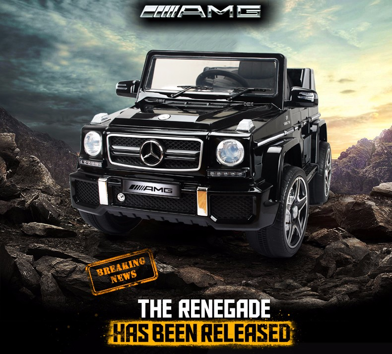 Official Licensed Mercedes-Benz AMG G63 Electric Kids Ride On Car 12V Battery Operated Baby Toy Cars With 2.4G Remote Control