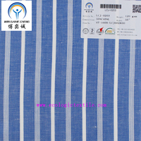 55%C45%L blue and white stripe fabric