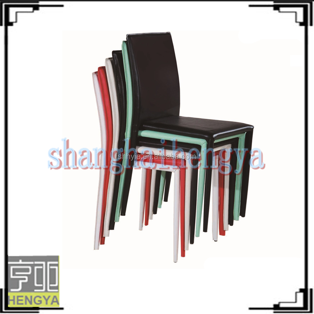 Wholesale colorful cheap pu leather dining chairs buy for Colorful leather dining chairs