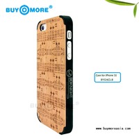 new brand printing logo cherry wooden for iphone 5s bumper case