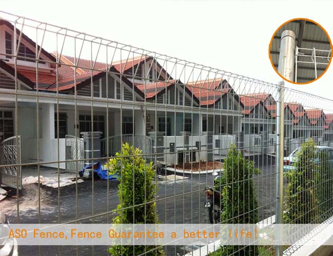 swimming pool fence/2.1*1.8m size roll top swimming pool fence/malaysia standard garden fence