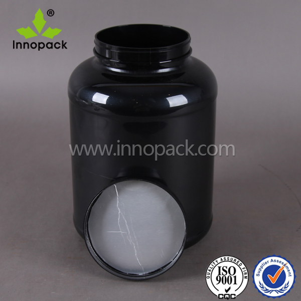 5 liter black pet food container with screw cap empty PET can