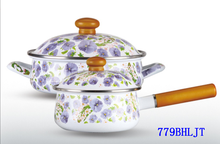 Family Used Enamel 2 PCS Kitchen Wares Wholesale Cookware