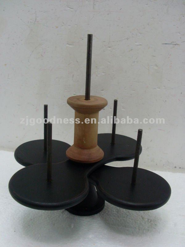 2012 Good Sale Antique Multi-Trays Wooden Candle Holder