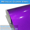 CARLIKE 1.52*20m Colored Purple Chrome Metallic Glossy Vinyl Auto Wrap