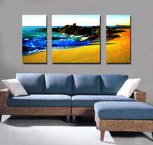 Stretched Canvas Printing High Quality Sunrise Mediterranean Seascape Paintings
