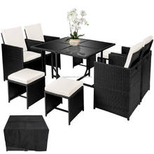 Patio Set 4 Seater Outdoor Rattan Effect Cube Garden Furniture/Cube Table RLF-17D-008