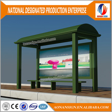 Modern design LED strips light box bus stop design bus shelter