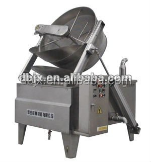 Semi-Automatic Electric Food Fryer|Round Pan Snack Frying Machine